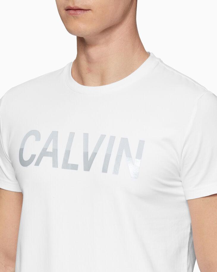 CALVIN KLEIN TWO-TONE LOGO TEE