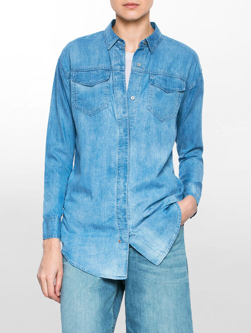 CALVIN KLEIN DENIM TUNIC SHIRT
