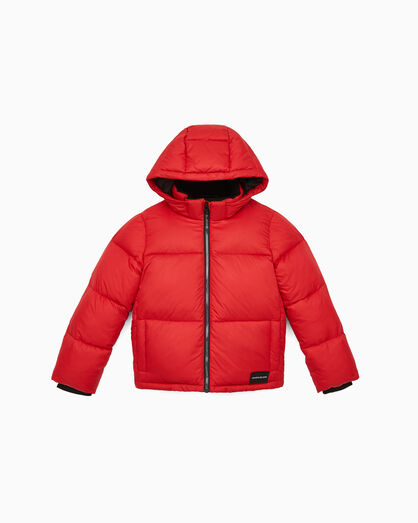 CALVIN KLEIN GIRLS ESSENTIAL LOGO PUFFER JACKET
