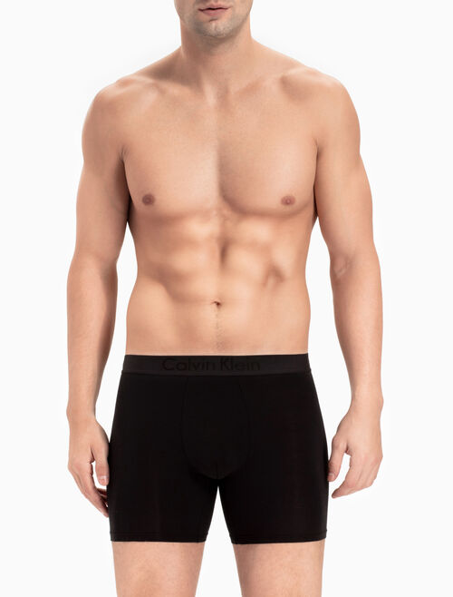 CALVIN KLEIN CK BLACK SILK KNIT BOXER BRIEF
