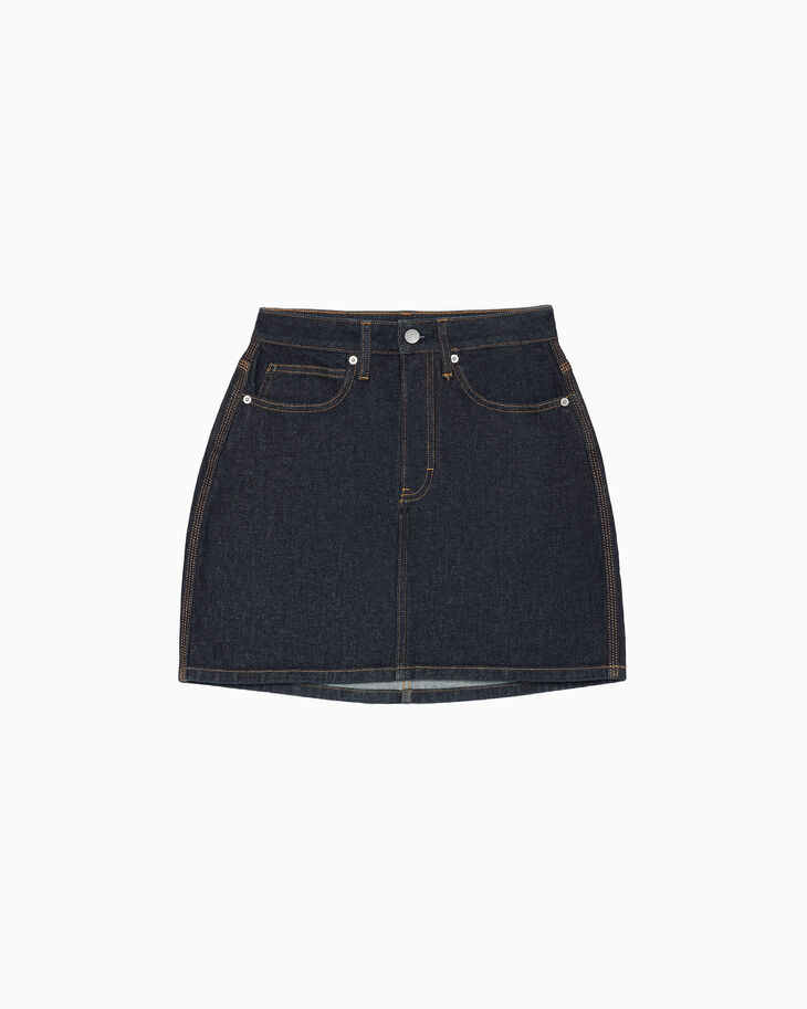 CALVIN KLEIN WESTERN STITCH HIGH RISE MINI SKIRT