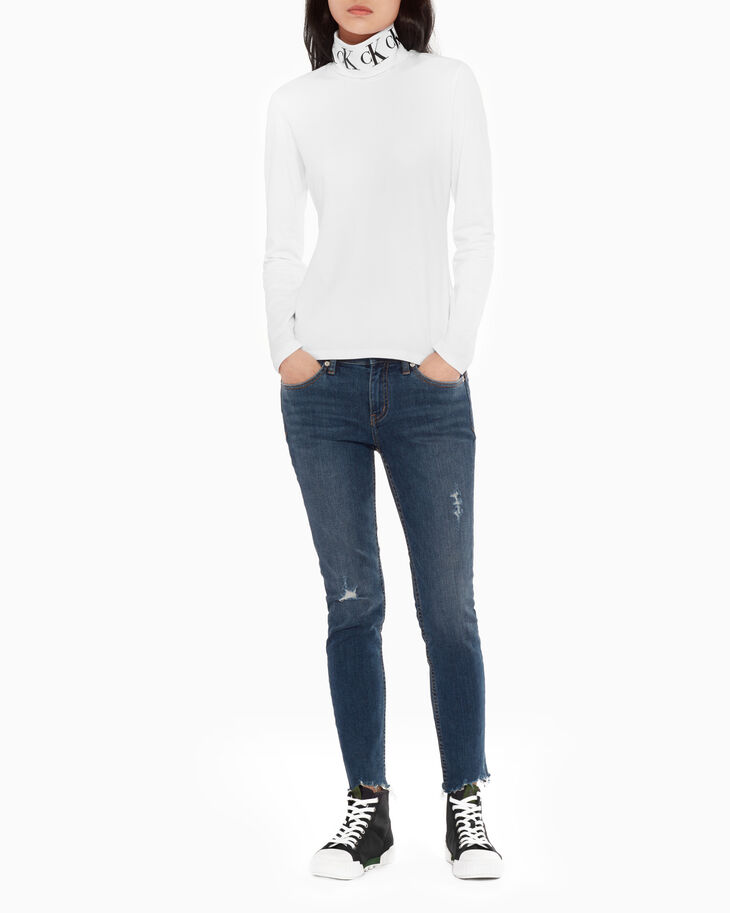 CALVIN KLEIN MONOGRAM TURTLENECK LONG SLEEVE TEE