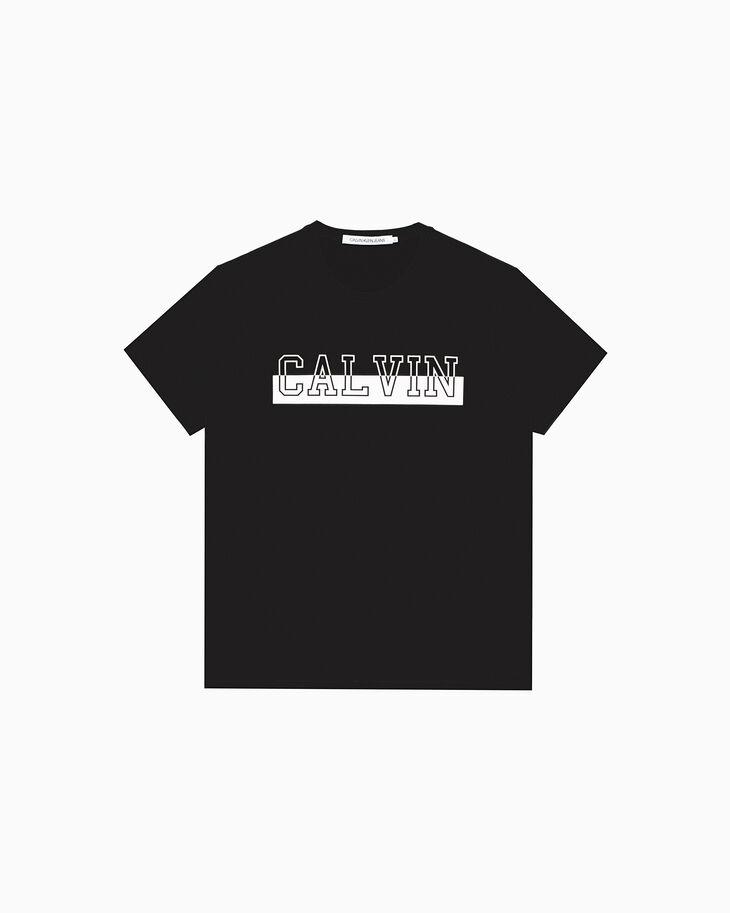 CALVIN KLEIN 모노크롬 CALVIN 로고 티셔츠