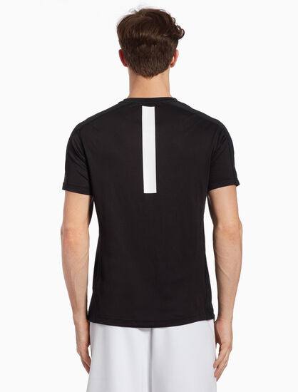 CALVIN KLEIN SHORT-SLEEVE TEE WITH MESH BACK