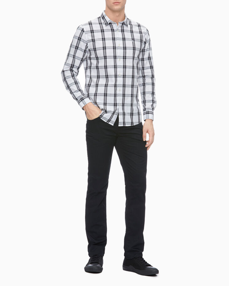 CALVIN KLEIN 37.5 PLAID SLIM FIT SHIRT