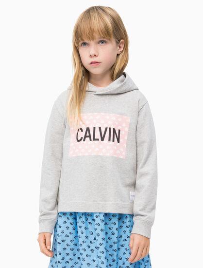 CALVIN KLEIN GIRLS MINI FLOWER LOGO 連帽上衣