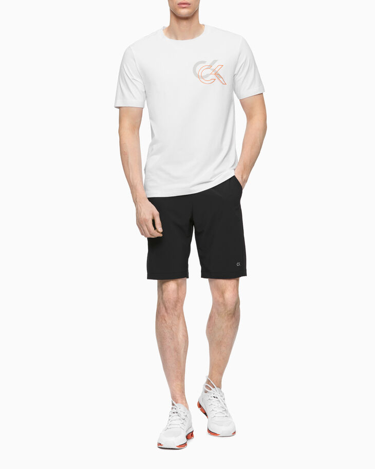 CALVIN KLEIN STATEMENT ESSENTIALS DOUBLE LOGO TEE