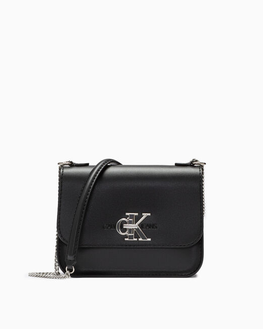 CALVIN KLEIN CKJ MONOGRAM MEDIUM CROSSBODY WITH CHAIN