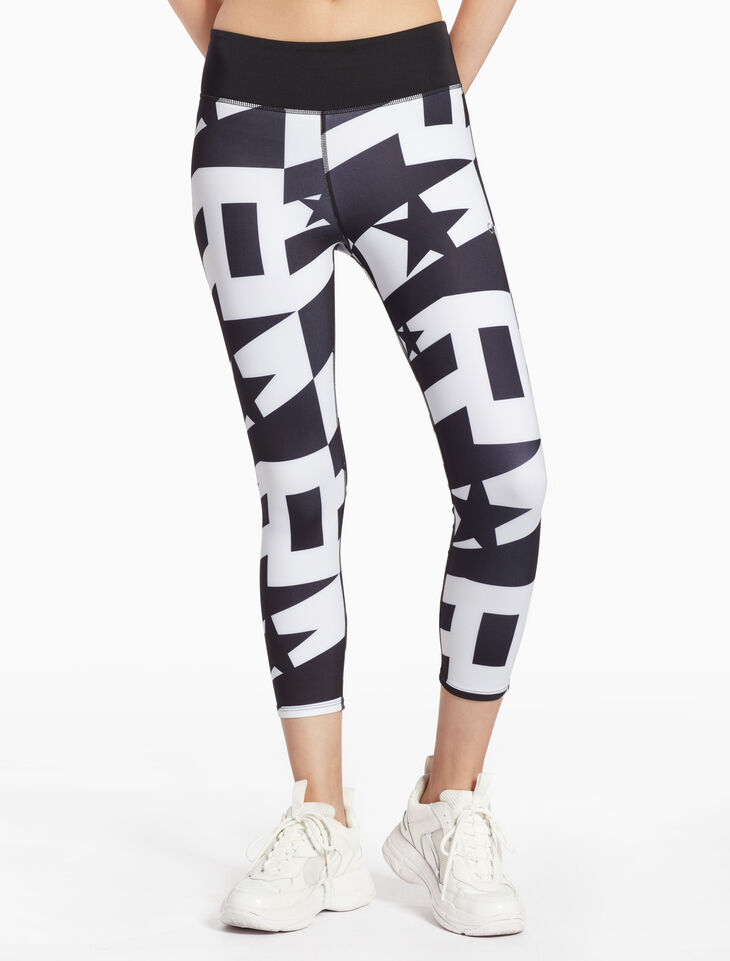 CALVIN KLEIN STAR PRINT CROPPED LEGGINGS