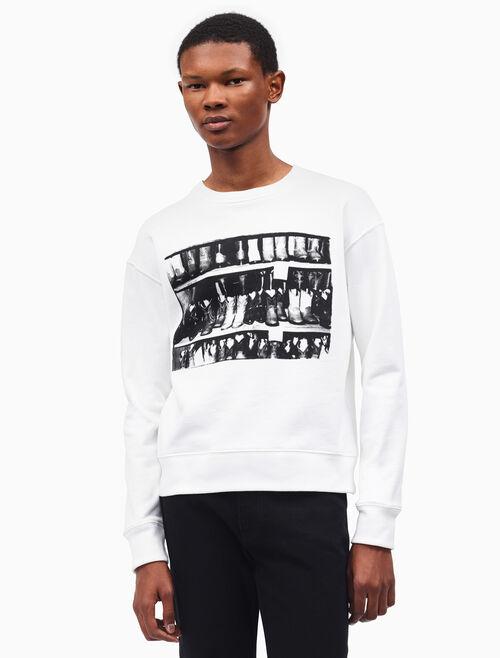 CALVIN KLEIN cowboy boots crewneck sweatshirt