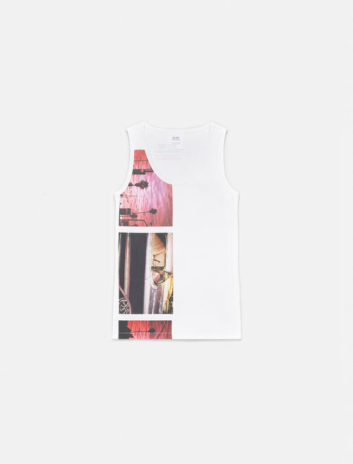 CALVIN KLEIN GRAPHIC SLEEVELESS TANK TOP