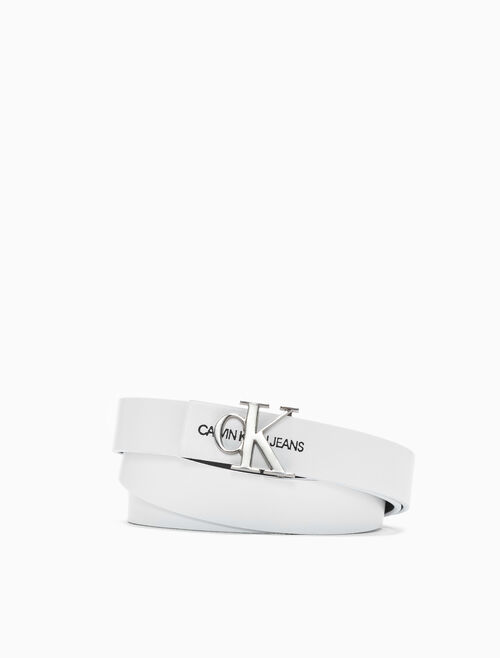 CALVIN KLEIN SKINNY MONOGRAM 腰帶 24MM