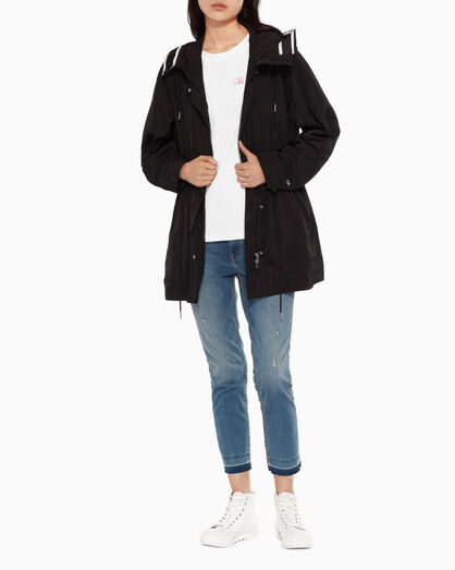 CALVIN KLEIN WOVEN HOODED JACKET