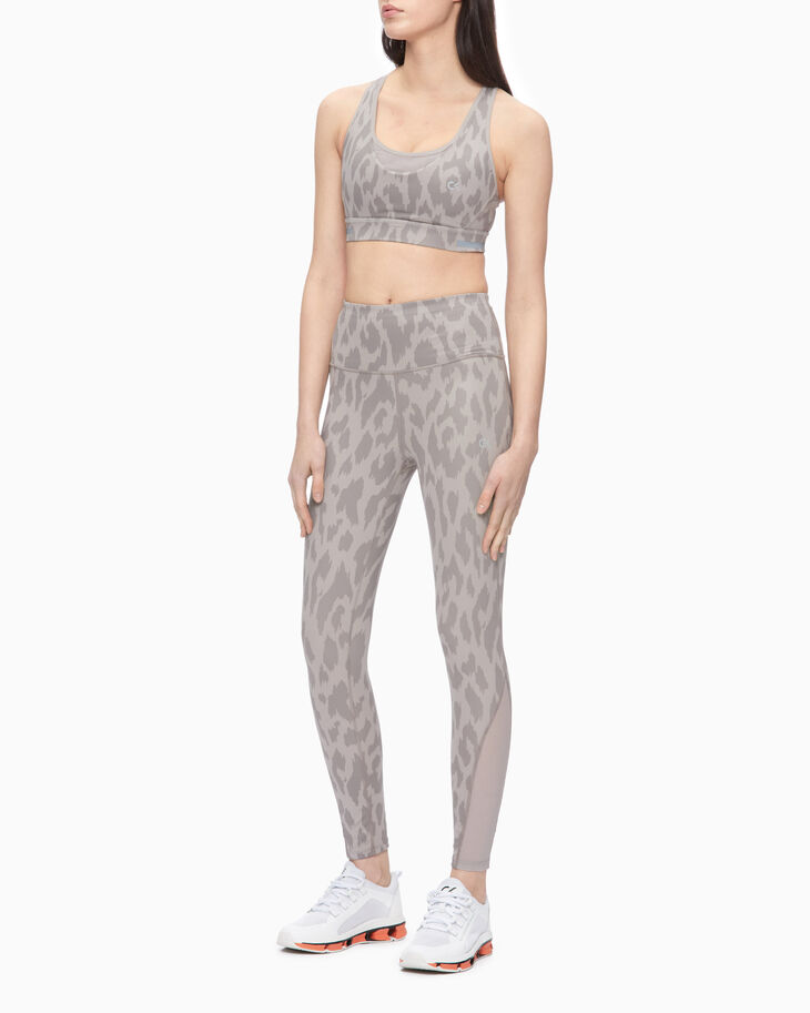CALVIN KLEIN ANIMAL PRINT COMPRESSION BRA