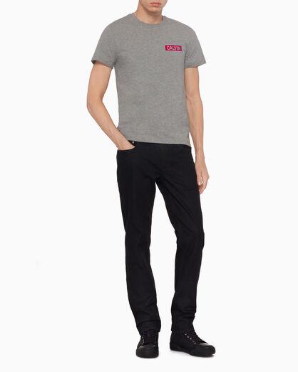 CALVIN KLEIN CALVIN 로고 패치 티셔츠