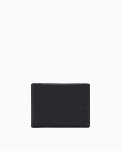 CALVIN KLEIN MICRO PEBBLE BILLFOLD WALLET WITH CARDCASE