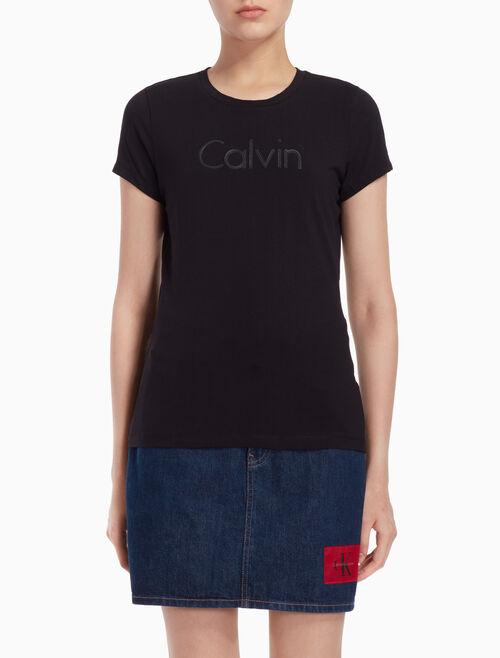 CALVIN KLEIN 壓紋標誌上衣