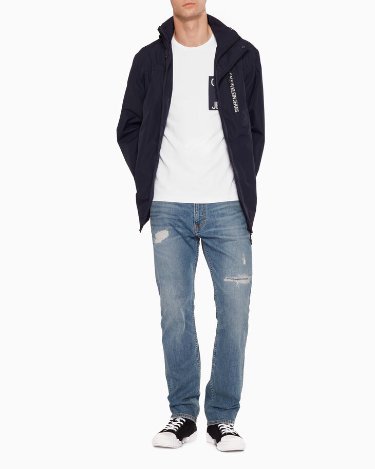 CALVIN KLEIN CKJ 035 DISTRESSED STRAIGHT JEANS