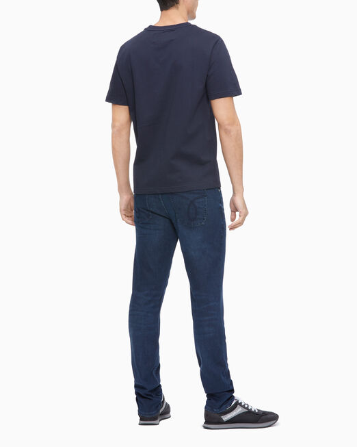 CALVIN KLEIN 남성 레귤러핏 패션 로고 반팔 스웨트 셔츠
