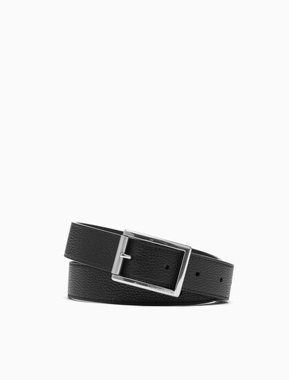 CALVIN KLEIN SHINY ROLLER BUCKLE BELT