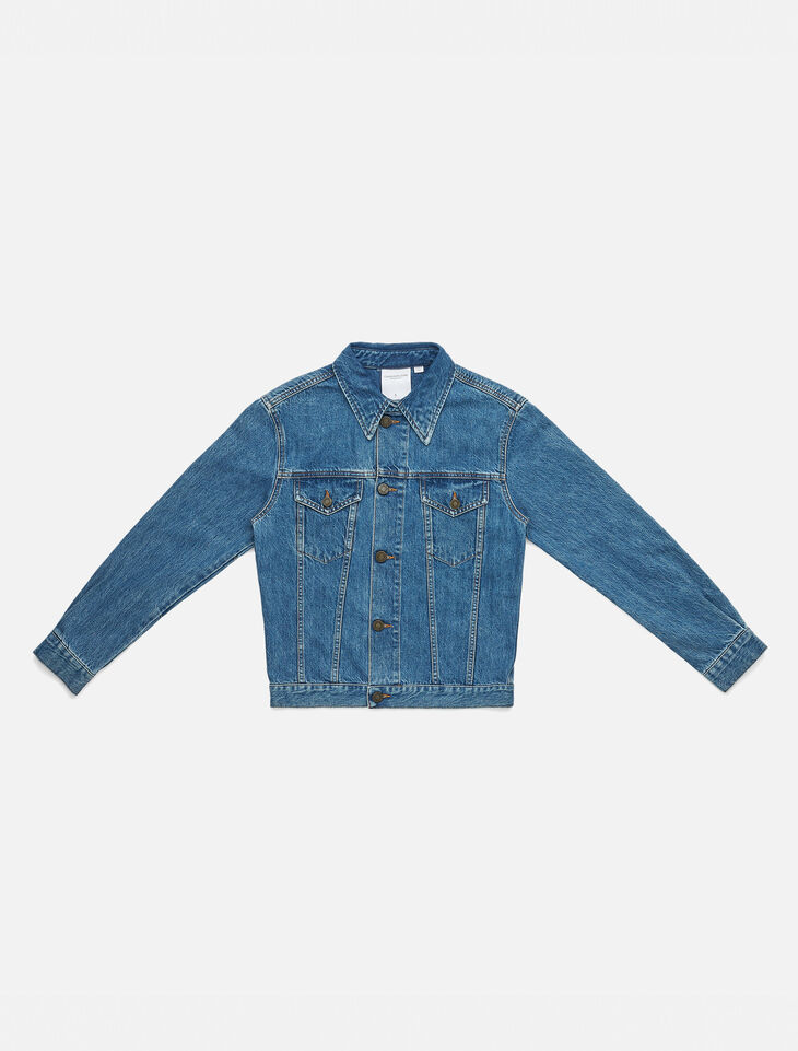 CALVIN KLEIN TOUGH BLUE DENIM TRUCKER JACKET