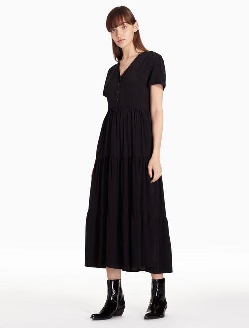 CALVIN KLEIN VISCOSE MAXI DRESS