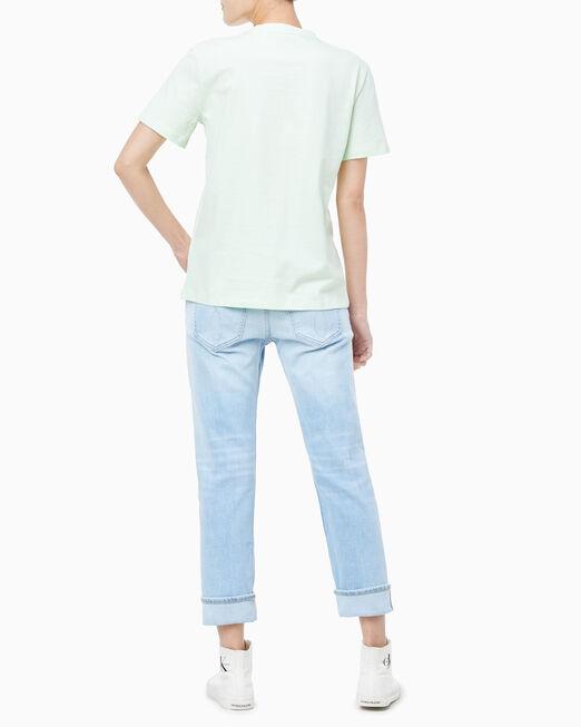 CALVIN KLEIN EMBROIDERED MONOGRAM LOGO 티셔츠