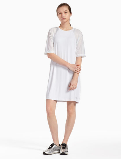 CALVIN KLEIN SIGNATURE 메시 드레스