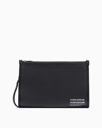CALVIN KLEIN FEATHER WEIGHT DOUBLE ZIP POUCH