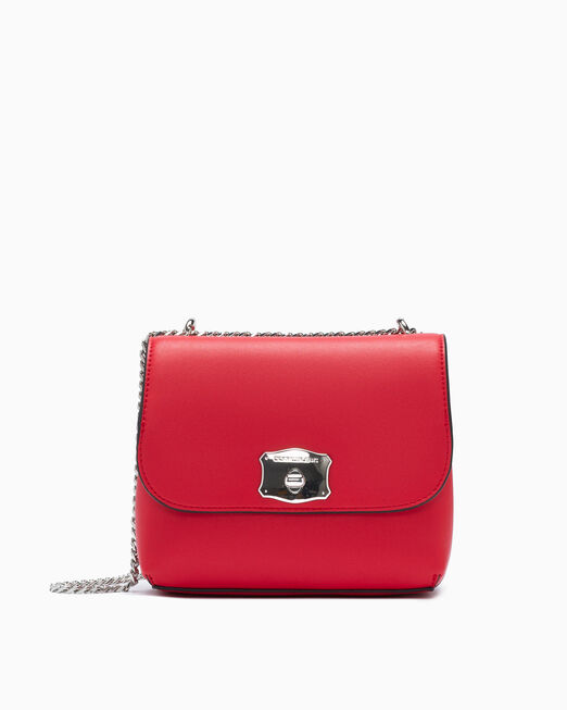 CALVIN KLEIN SCULPTED LOCK SQUARE FLAP BAG