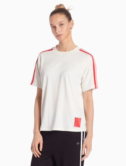 CALVIN KLEIN RE-EMERGE COLOR TAPE TEE
