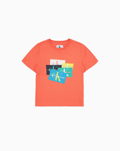 CALVIN KLEIN ORGANIC COTTON MULTI LOGO T-SHIRT