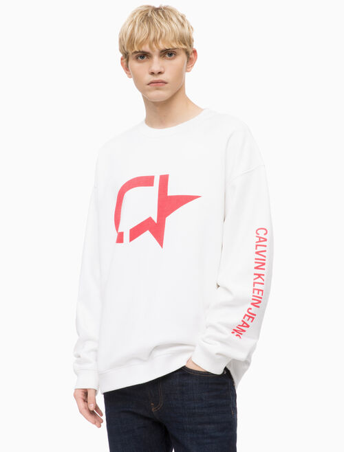 CALVIN KLEIN GRAPHIC 스웨트셔츠