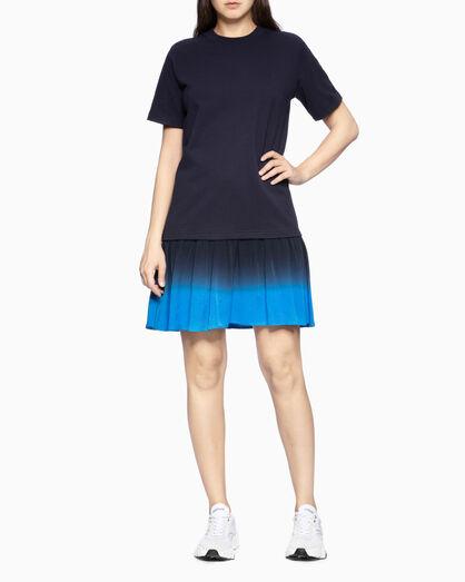 CALVIN KLEIN TIE-DYE HEM 스웨트셔츠 드레스