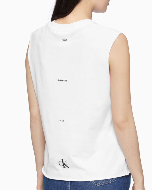 CALVIN KLEIN CK ONE LOGO 민소매 티셔츠