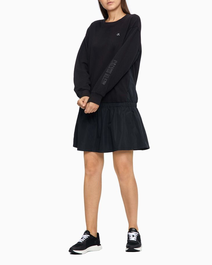 CALVIN KLEIN DIGITAL MOTION SWEATSHIRT DRESS