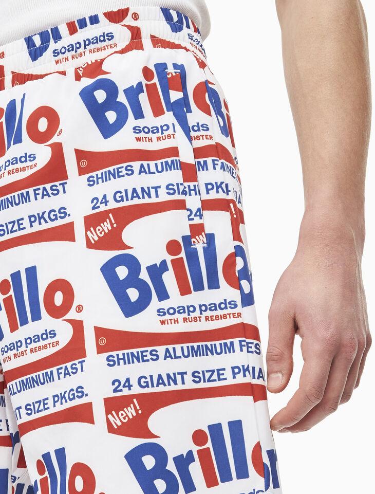 CALVIN KLEIN WARHOL BRILLO 平織短褲