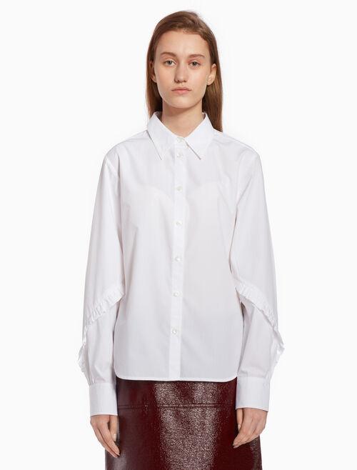 CALVIN KLEIN Ruffle sleeve shirt