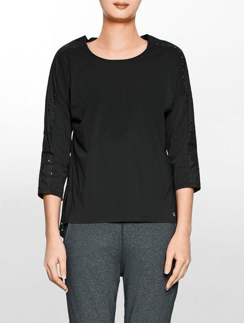 CALVIN KLEIN パーフォレーテッド クロップ Tシャツ