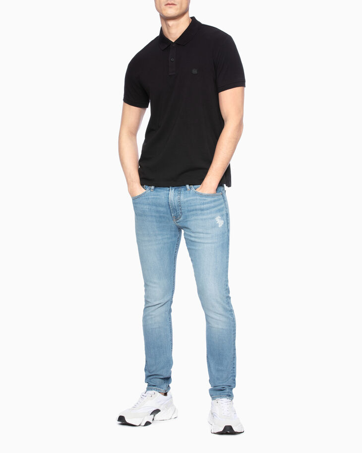 CALVIN KLEIN LOGO APPLIQUE POLO SHIRT