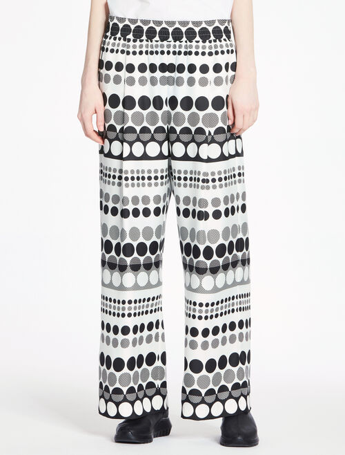 CALVIN KLEIN DOT PRINTED SILK ELASTICATED PANTS