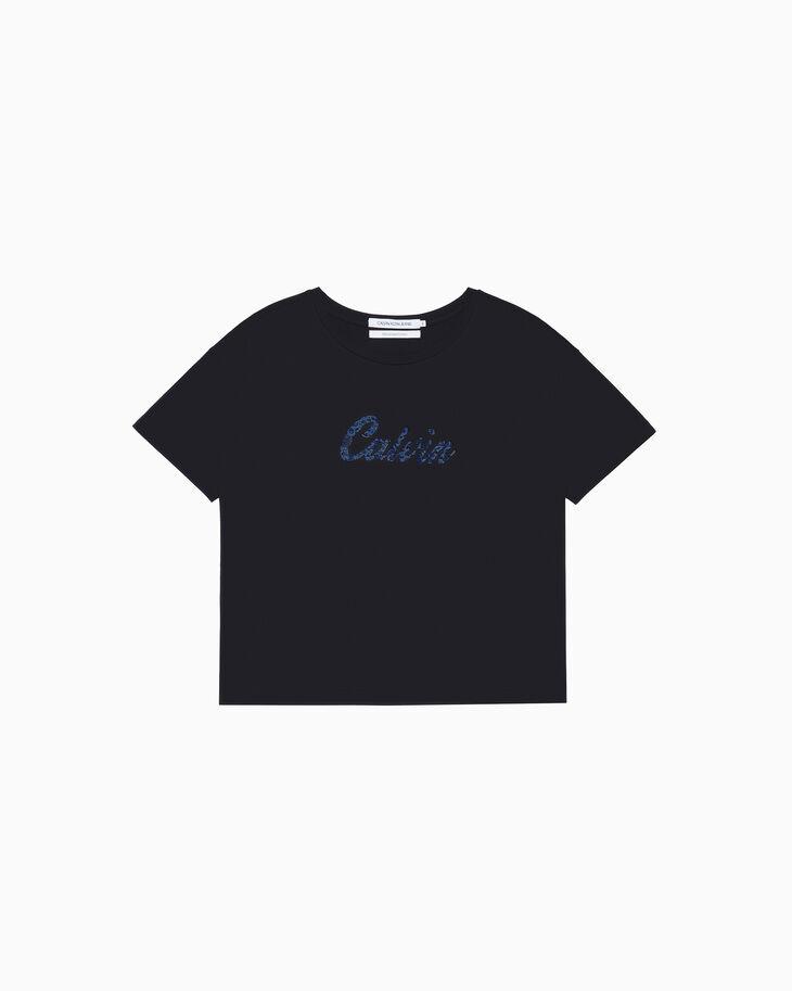 CALVIN KLEIN LACE LOGO 티셔츠