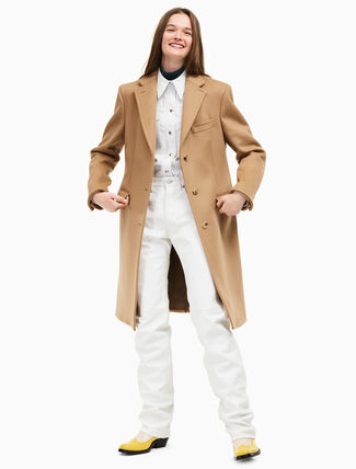 CALVIN KLEIN single breasted classic overcoat