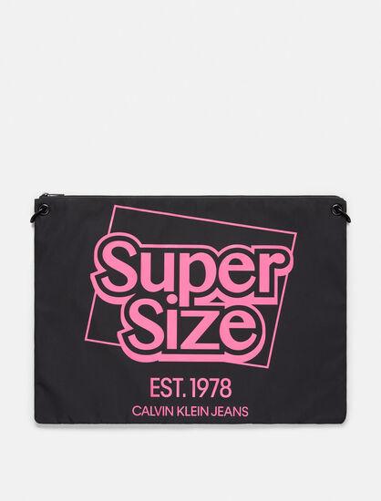 CALVIN KLEIN SUPER SIZE NYLON OVERSIZED POUCH