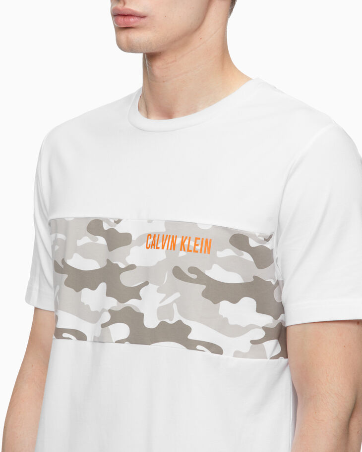 CALVIN KLEIN STATEMENT ESSENTIALS CAMO PRINT 上衣