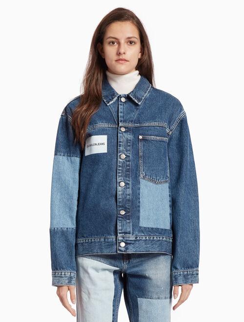 CALVIN KLEIN 패치워크 트럭커 재킷