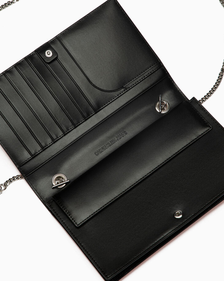 CALVIN KLEIN SAFETY PIN WALLET WITH CHAIN