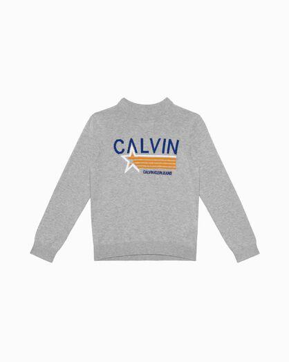 CALVIN KLEIN BOY'S KNIT PRINT PULLOVER
