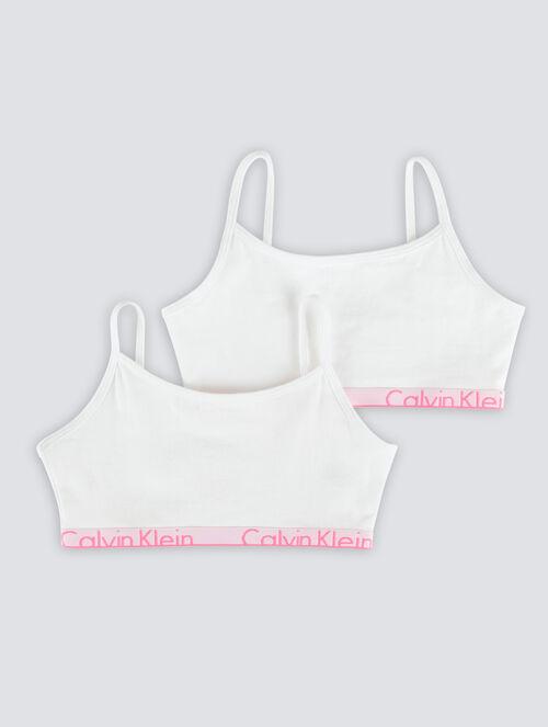 CALVIN KLEIN GIRLS CALVIN KLEIN ID 2 PACK STRING BRALETTE