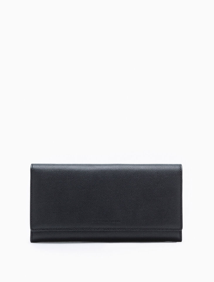 CALVIN KLEIN MICRO PEBBLE LONG FLAP WALLET